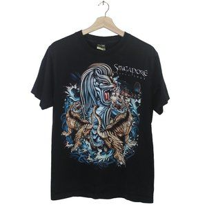 Other - Singapore Lion Tiger Big Graphic Tee